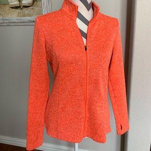 Danskin women's orange fleece jacket medium